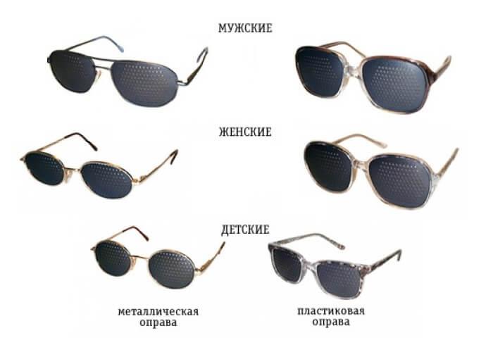 Очки с дырочками для улучшения зрения инструкция к применению.