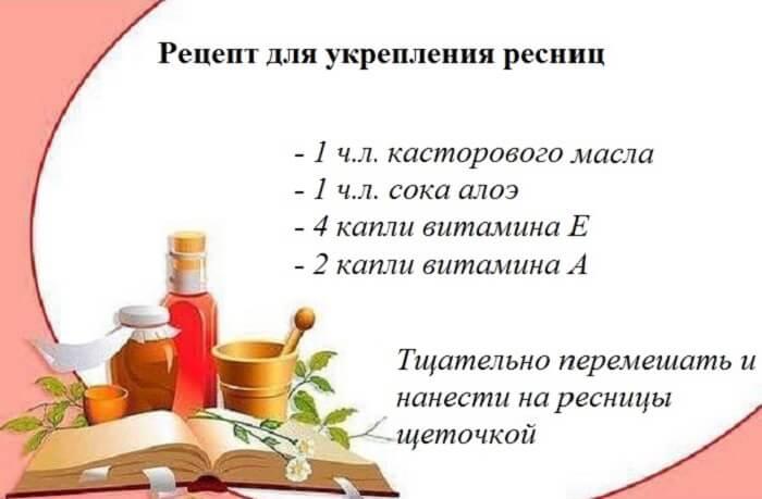 Рецепт для ресниц