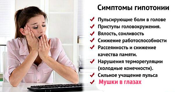 Симптомы гипотомии у человека